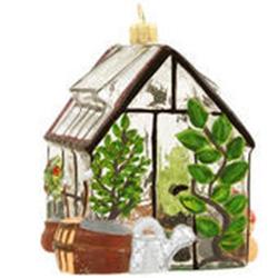 Polish Art Center  Polish Green House Glass Ornament