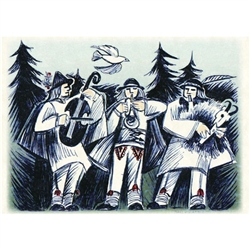 Christmas Greeting Card with Goral Musicians