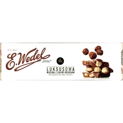Wedel Milk Chocolate Bar with Whole Hazelnuts Luksusowa (220g)