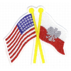 Polish and American Crossed Flag Patch