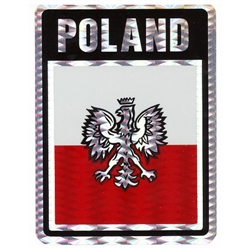 Poland (Black/Red and White Metalic) Decal Sticker