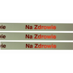 Ribbon: 'Na Zdrowie' (White with Metallic Red)