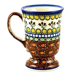 Polish Art Center Unikat Polish Pottery Stoneware Mug With Handle 8oz