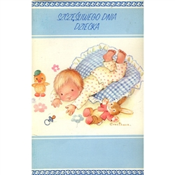 Polish Children's Day Greeting Card - Pop-up