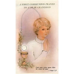 First Communion Card - Grandson