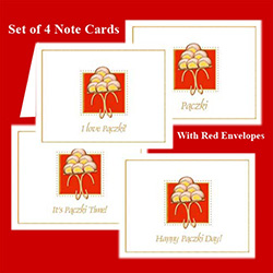 Paczki Day Notecard Set of 4 assorted