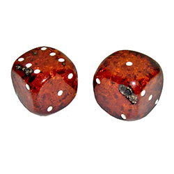 Amber Dice Cognac Colored - Extra Large