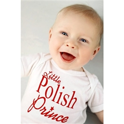 Polish Art Center Quot Little Polish Prince Quot Baby Onesie Romper