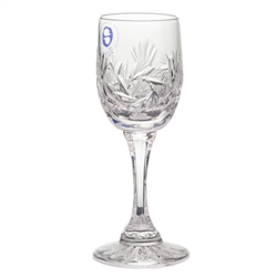 "Polish Crystal Cordial Glasses  - 4.5"" - 11.5cm -  Set of 6"