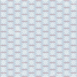 Polish Scrapbook Paper - Christmas Snowflake (Blue and Red) - Single Paper