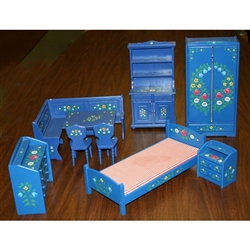 Polish Doll House Furniture Set