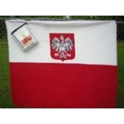 Deluxe Polar Fleece Blanket With The Polish Eagle
