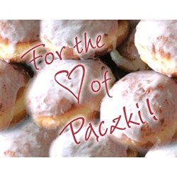 Paczki Note Card - For the Love of Paczki!