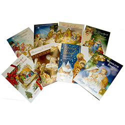 Assorted Polish Religious Christmas Cards - (10) Pack