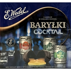 E. Wedel Barylki Cocktail - Dark Chocolate Barrels With Liqueur Filling