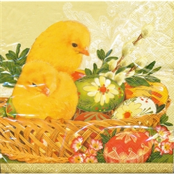 Polish Easter Luncheon Napkins (package of 20) - 'Chicks and Pisanki'