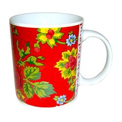 Polish Art Center Polish Folk Costume Material Ceramic Mug Red