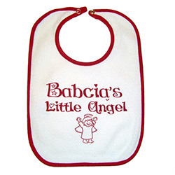 Babcia's or Busia's Little Angel Baby's Bib - Grandma's Little Angel
