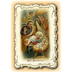 Christmas Greeting Card with The Holy Family