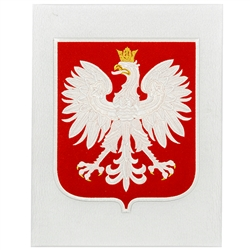 Large Embroidered Polish Eagle Patch