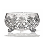 "Genuine Hand Cut 24% Lead Crystal Footed Bowl - 8"" Diameter"