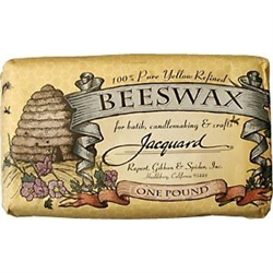 100% Pure Yellow Refined Bees wax By Jacquard - 16oz.