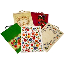 Polish Gift Bags - Folk Themed (Set Of 5) Large