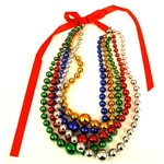 This colorful folk necklace can adjust to any neck size.