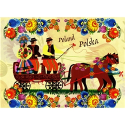"""Polish Wedding"" Note Card And Envelope"