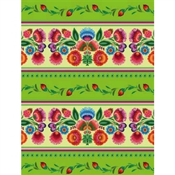 Polish Gift Wrapping Paper - Wycinanki Themed - Green