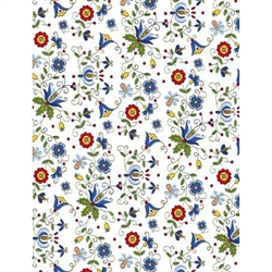 Polish Gift Wrapping Paper - White Kaszub