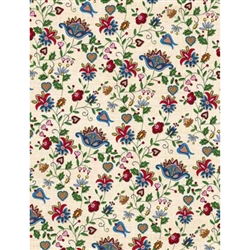 Polish Gift Wrapping Paper - Embroidered Flowers 2