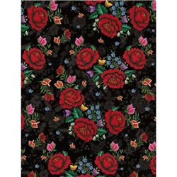 Polish Gift Wrapping Paper - Red Roses