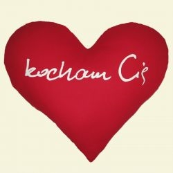 Heart Shaped Satin Pillow - kocham Cie - I Love You
