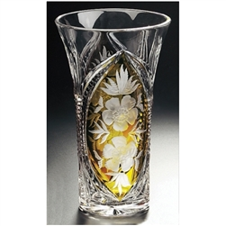 Polish Art Center Polish Amber Crystal Vase Quot Floral