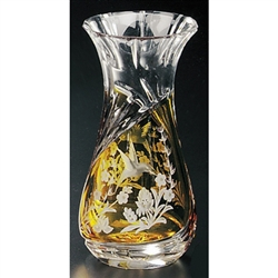 Polish Art Center Polish Crystal Amber Hummingbird Vase 7 25 Quot