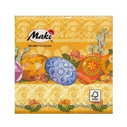 Cocktail Napkins - Polish Easter Pisanki - Orange