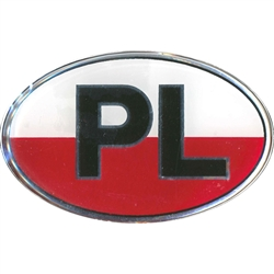 PL Red And White Sticker - Raised Vinyl