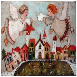 Artistic Ceramic Tile - Angels On High