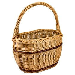 Polish Willow Basket - Small Oval