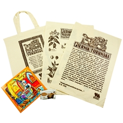 Polish Gingerbread Tote Bag/Towel Gift Set - Piernik Torunski