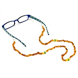 Amber And Turquoise Eyeglass Holder Necklace 26