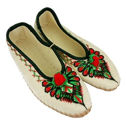 Highlander's  Slippers with Leather Soles - Pantofle Goralskie