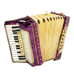 Accordion With Glitter And Stones