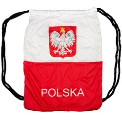 Cinching Backpack - Emblem Of Poland