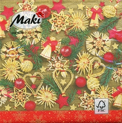 Polish Christmas Luncheon Napkins (package of 20) - 'Christmas Art'