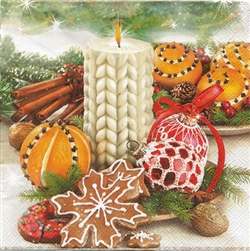 Polish Christmas Luncheon Napkins (package of 20) - 'Christmas Bounty'