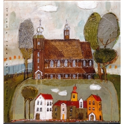 Artistic Ceramic Tile - Country Churches
