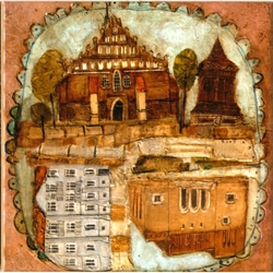 Artistic Ceramic Tile - Basilica Of St Nicholas In Bochnia