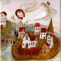 Artistic Ceramic Tile - Angel On High